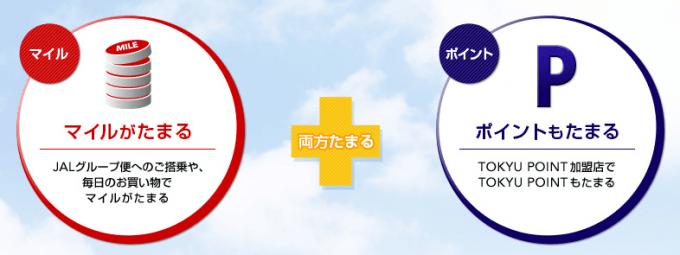 TOKYU POINT加盟店ならマイルとポイント両方たまる