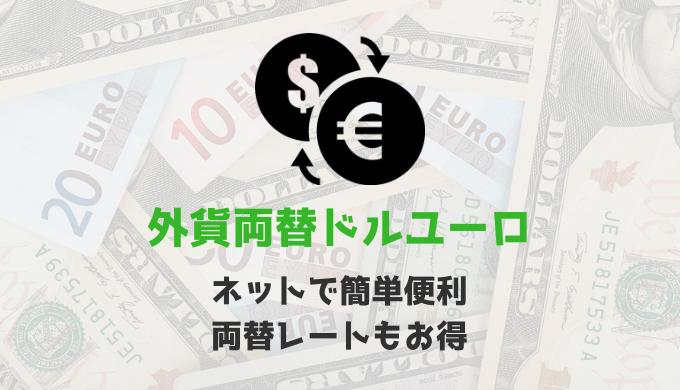 ネットで簡単便利な外貨両替ドルユーロは両替レートもお得だった!!