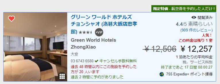 グリーン ワールド ホテルズ チョンシャオ