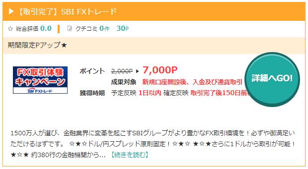 モッピーのSBI FX トレード