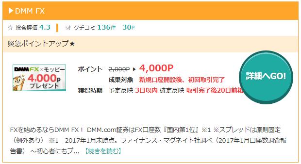 モッピーのDMM FX
