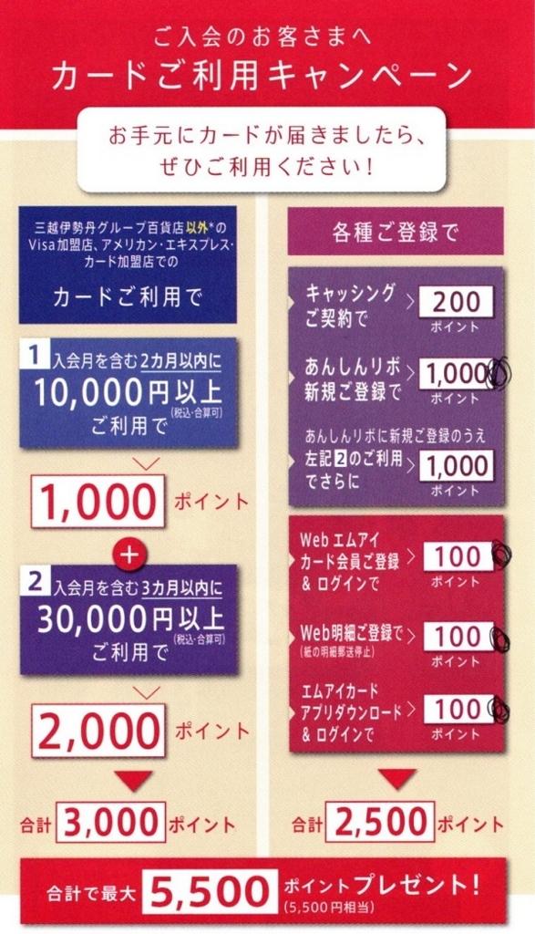 エムアイカード新規入会キャンペーン