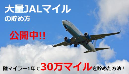 大量JALマイレージはどう貯める? 陸マイラー1年で30万マイル貯めた方法を公開中!!