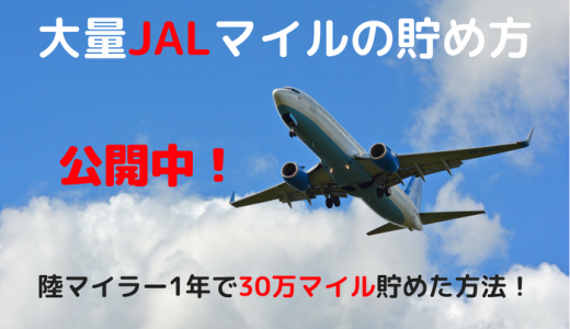 大量JALマイルの貯め方公開中