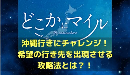 JAL「どこかにマイル」で沖縄行きにチャレンジ!希望の行き先を出現させる攻略法とは?!