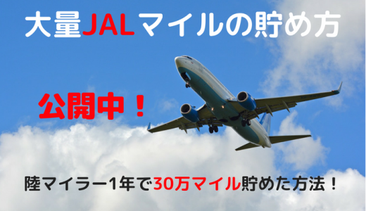大量JALマイルの貯め方