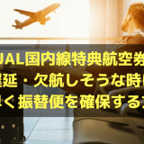 JAL国内線特典航空券で遅延・欠航しそうな時に素早く振替便を確保する方法を解説!
