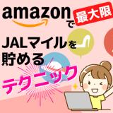 Amazonの買い物で最大限JALマイルを貯めるテクニック