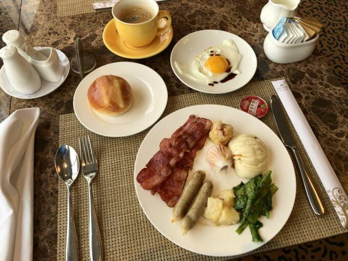 1日目の朝食
