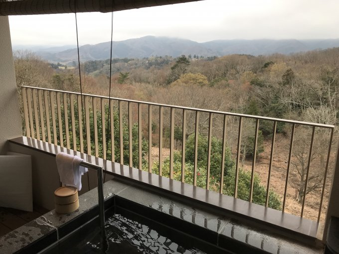 伊豆マリオットホテル修善寺露天風呂からの眺め