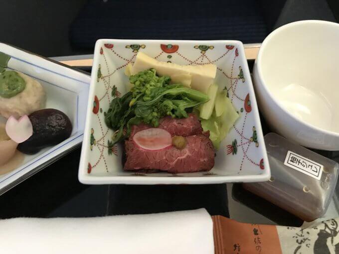 往路機内食3