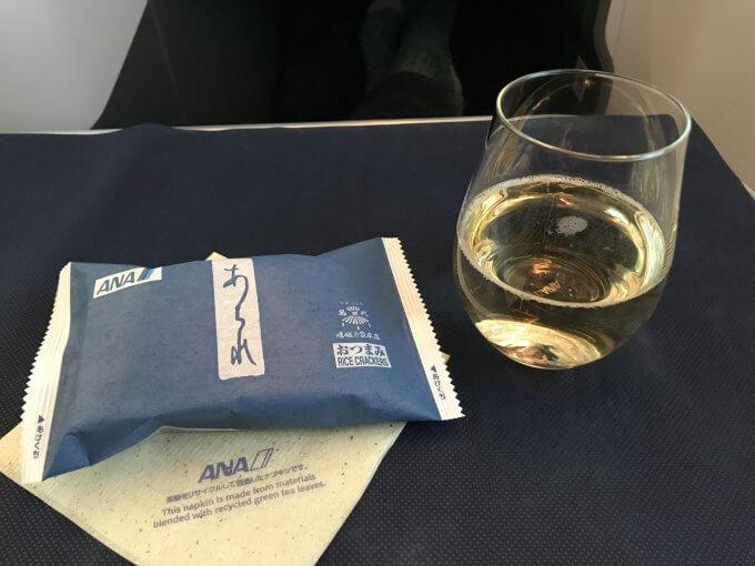 復路はシャンパン