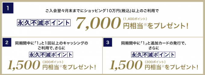 セゾンプラチナビジネスアメックスの新規発行&利用で最大10,000円相当ポイントがもらえるキャンペーンの条件