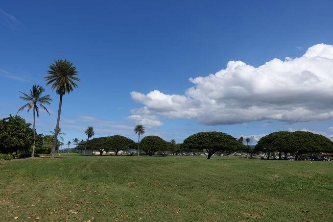 ハレイワ・アリイ・ビーチ・パークの景色
