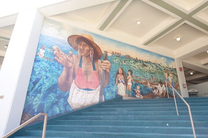 ハワイ大学マノア校の壁画