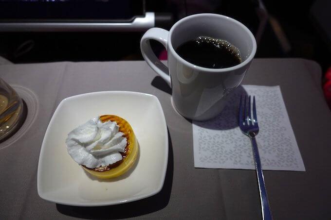 ハワイアン航空ビジネスクラスの機内食