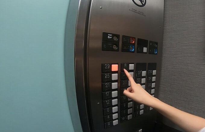 シェラトン・プリンセス・プリンセス・カイウラニのエレベーターのボタン
