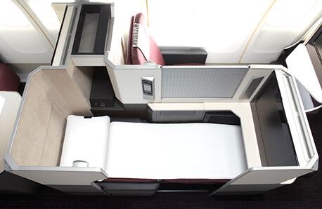 JAL SKY SUITEのビジネスクラスシート